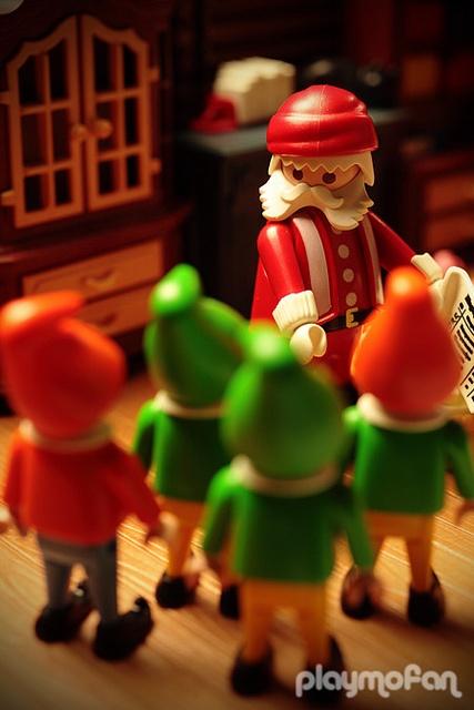 Elfos reciben instrucciones